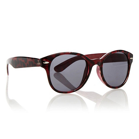 Red Herring - Dark red rounded tortoiseshell d-framed sunglasses