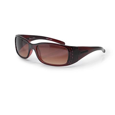 Bloc - Dark red +reims+ embellished sunglasses