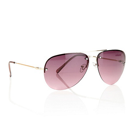 Red Herring - Pink aviator sunglasses