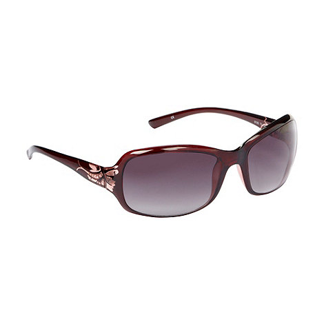 Mantaray - Dark red rectangular sunglasses