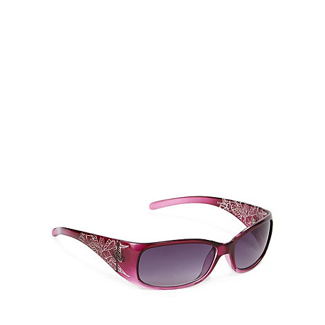 Mantaray - Purple hibiscus armed visor sunglasses