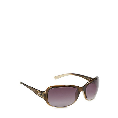 Mantaray - Brown graduating rectangular sunglasses
