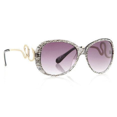 Star by Julien Macdonald - Designer black lace snake sunglasses