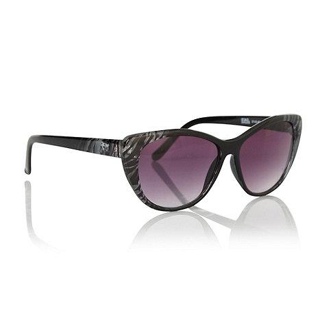 Star by Julien Macdonald - Black zebra patterned cat eye sunglasses
