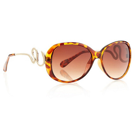 Star by Julien Macdonald - Designer brown tortoiseshell snake sunglasses