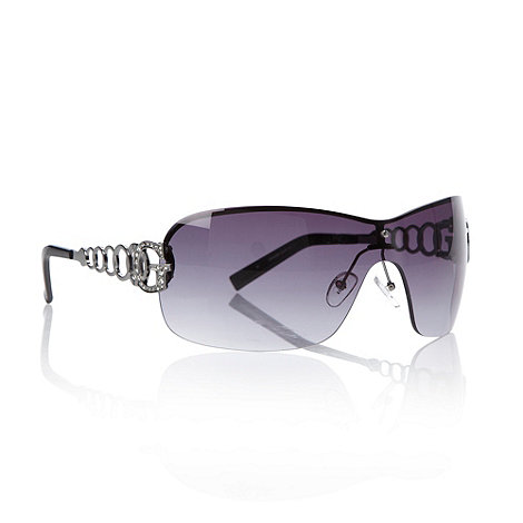 Guess - Purple chain armed visor sunglasses