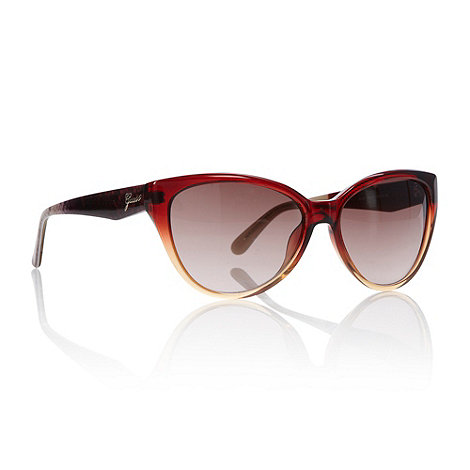 Guess - Dark red graduated snake sunglasses
