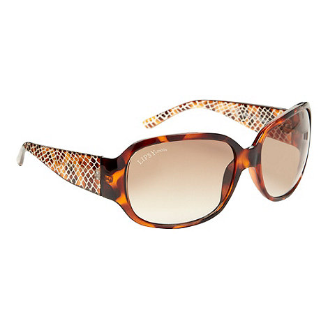 null - Brown snake patterned oversized sunglasses