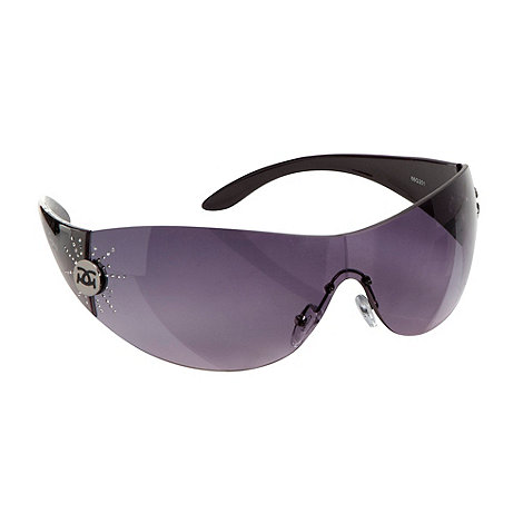 Gionni - Purple diamante star hinge visor sunglasses