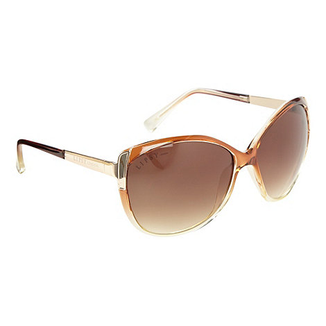 Lipsy - Brown graduating cat eye sunglasses