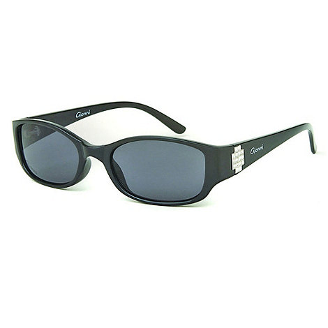 Gionni - Black diamante cross hinge sunglasses