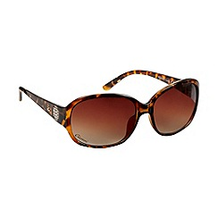 Gionni - Brown tortoiseshell diamante temple sunglasses