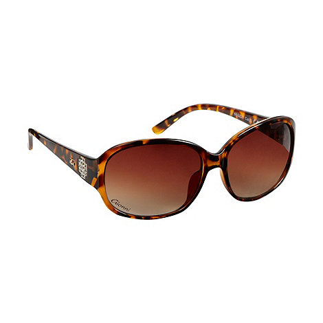 Gionni - Brown tortoiseshell diamante temple sunglasses