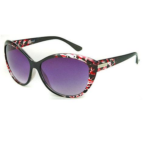 Gionni - Black patterned corner cat eye sunglasses
