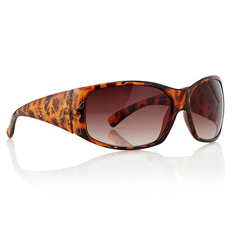 Mantaray - Brown etched tortoiseshell sunglasses