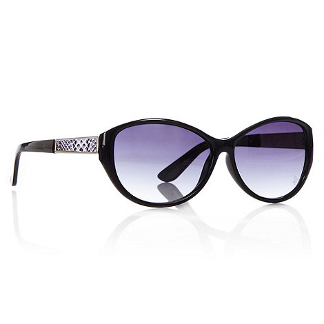 Butterfly by Matthew Williamson - Black cat eye faux snakeskin arm sunglasses