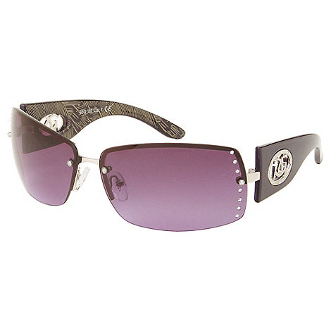 Gionni - Purple rimless diamante lens sunglasses