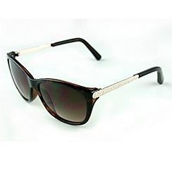 Suuna - Brown tortoiseshell metal arm sunglasses