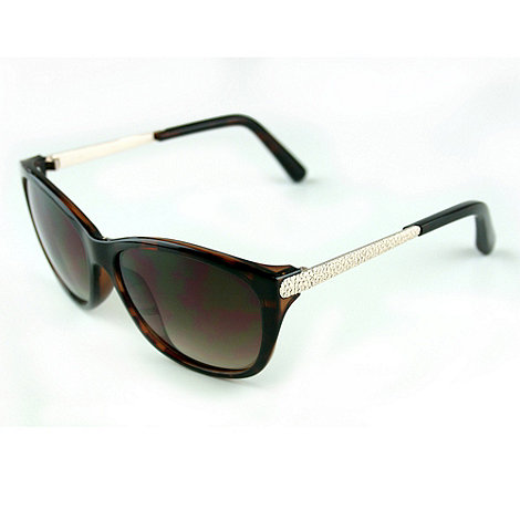 Suuna - Brown tortoiseshell metal arm sunglasses