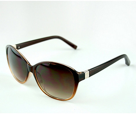 Suuna - Brown large frame metal temple sunglasses