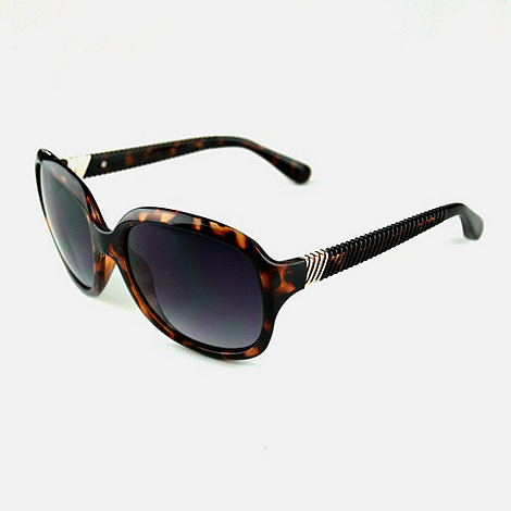 Suuna - Brown tortoiseshell crinkle cut arm sunglasses