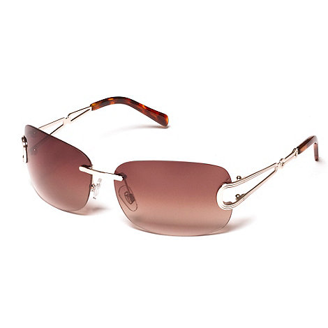 Suuna - Brown rimless open arm sunglasses