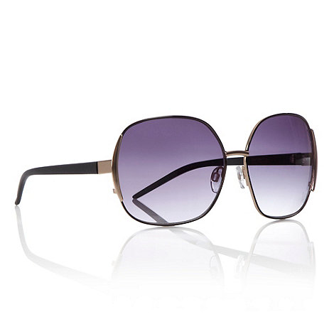 Butterfly by Matthew Williamson - Black square metal frame sunglasses