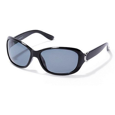 Polaroid - Black half moon plastic sunglasses