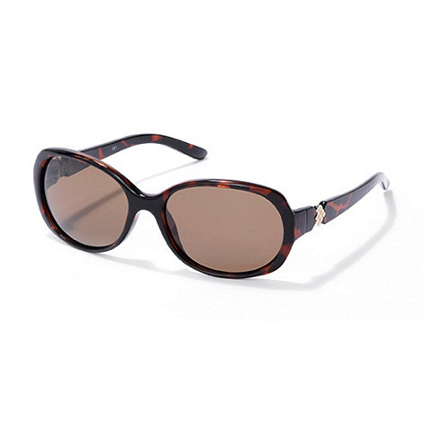 Polaroid - Light brown tortoiseshell plastic sunglasses