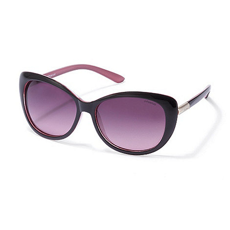 Polaroid - Purple cat+s eye plastic sunglasses
