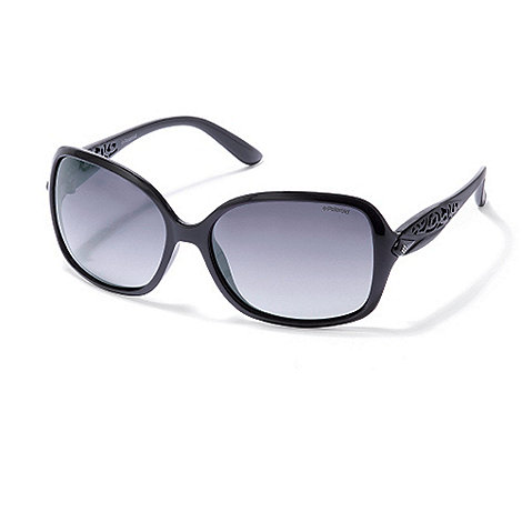 Polaroid - Black cutout arm plastic sunglasses