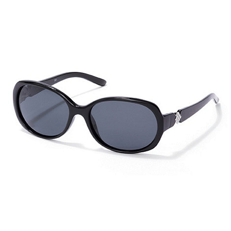 Polaroid - Black diamante temple plastic sunglasses