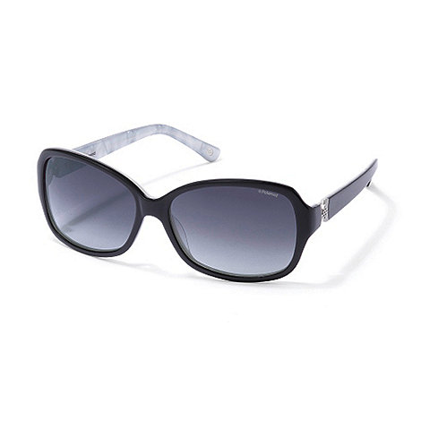Polaroid - Black plastic sunglasses
