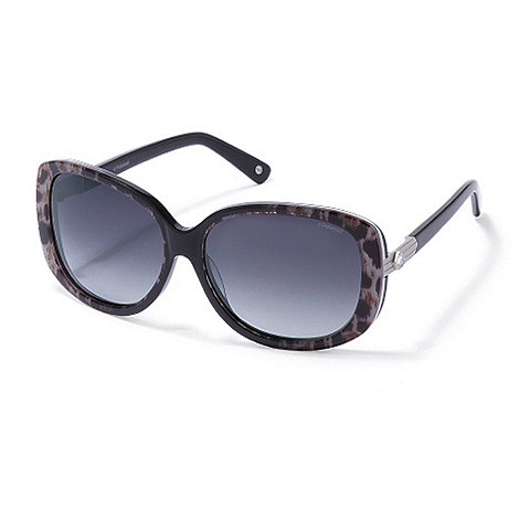 Polaroid - Black animal frame plastic sunglasses