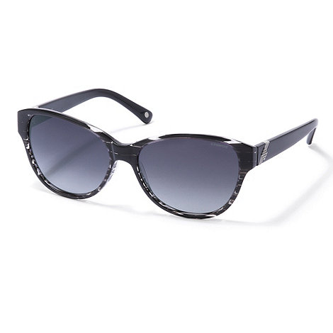 Polaroid - Black striped cat eye sunglasses