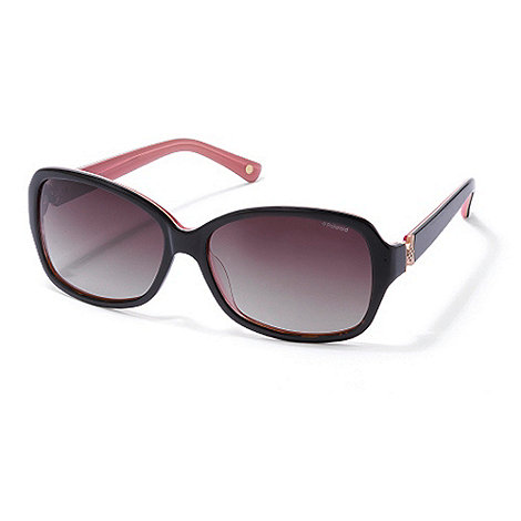 Polaroid - Brown diamante plastic sunglasses