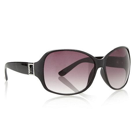 Principles by Ben de Lisi - Designer black plastic gem temple sunglasses