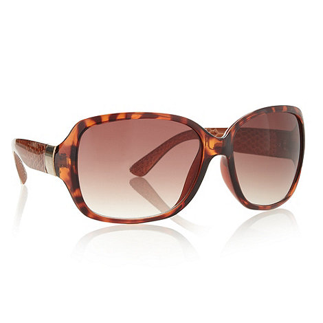 Beach Collection - Brown plastic snakeskin arm sunglasses