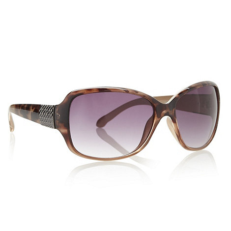Beach Collection - Brown tortoise shell studded temple sunglasses