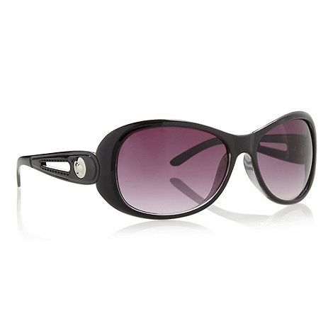 Beach Collection - Black cut out loop sunglasses
