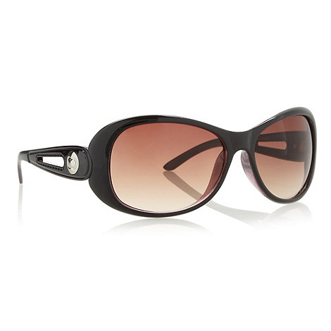 Beach Collection - Brown cut out loop sunglasses