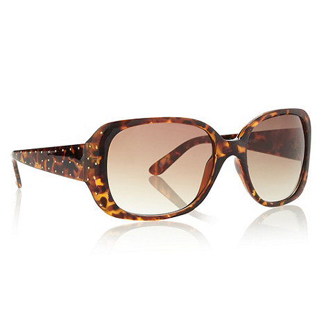 Beach Collection - Brown tortoise shell studded arm sunglasses