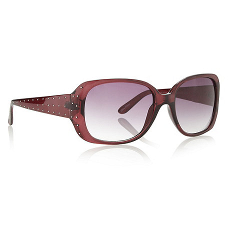 Beach Collection - Purple plastic studded arm sunglasses