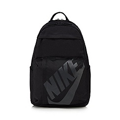 Nike - Black logo print backpack