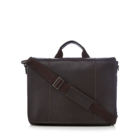 J by Jasper Conran - Designer brown leather laptop bag
