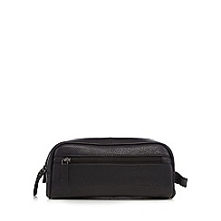 J by Jasper Conran - Designer black leather washbag