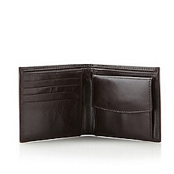 J by Jasper Conran - Designer dark brown leather wallet
