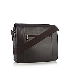 J by Jasper Conran - Designer dark brown leather messenger bag