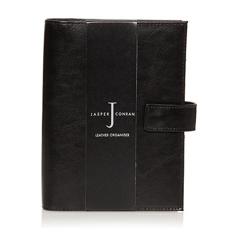 J by Jasper Conran - Designer black leather organiser