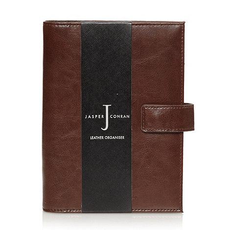 J by Jasper Conran - Designer brown leather organiser